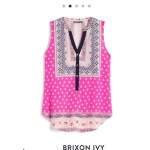 Pink Brixon Ivy Walton Henley Blouse